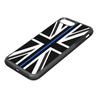 薄いブルーラインイギリスの旗 オッターボックスシンメトリーiPhone 8 PLUS/7 PLUSケース
