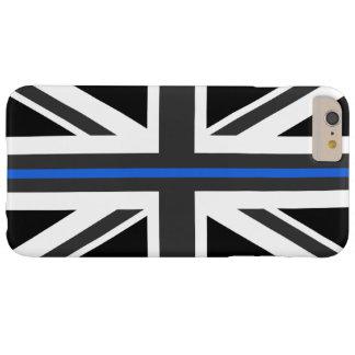 薄いブルーラインイギリスの旗 BARELY THERE iPhone 6 PLUS ケース