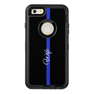 薄いブルーラインオッターボックスの擁護者Iphone 6プラスCas オッターボックスディフェンダーiPhoneケース