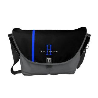 薄いブルーラインカスタムのモノグラム メッセンジャーバッグ