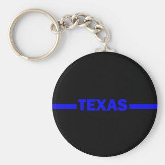 薄いブルーラインテキサス州の警官 キーホルダー