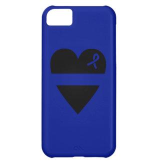 薄いブルーラインハートのiPhone 5cケース iPhone5Cケース