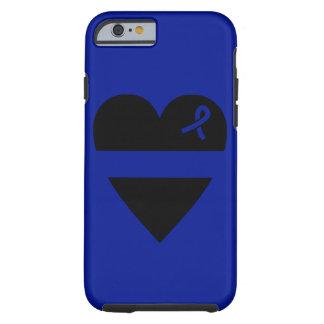 薄いブルーラインハートのiPhone 6の場合 ケース
