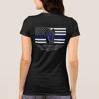薄いブルーラインミハエル大天使 Tシャツ