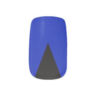 薄いブルーライン三角のMinxのネイル ネイルアート