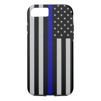 薄いブルーライン旗のiPhone 7の場合 iPhone 8/7ケース
