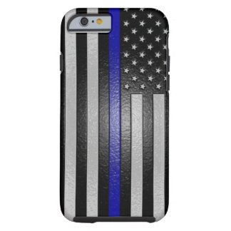 薄いブルーライン旗はiPhone6ケースを研ぎました ケース
