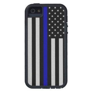 薄いブルーライン旗 iPhone SE/5/5s ケース