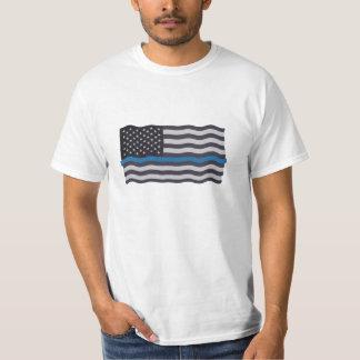 薄いブルーライン旗 Tシャツ