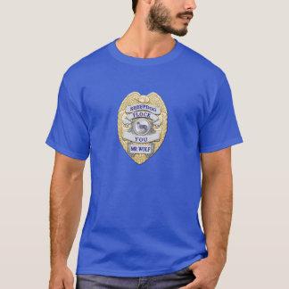 薄いブルーライン牧羊犬のバッジ Tシャツ