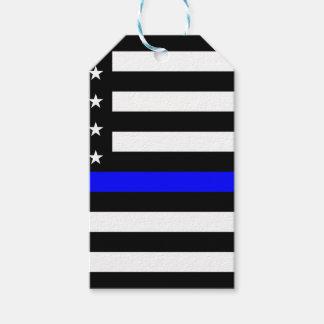 薄いブルーライン米国旗 ギフトタグ
