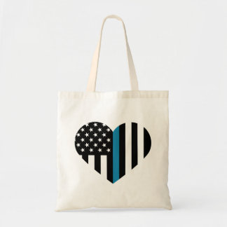 薄いブルーライン米国旗 トートバッグ