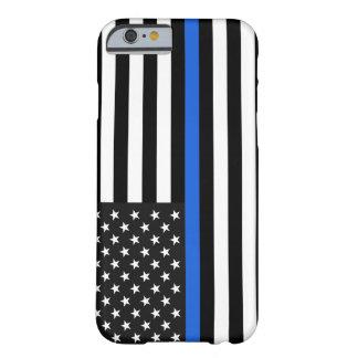 薄いブルーライン米国旗 BARELY THERE iPhone 6 ケース