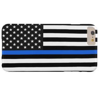 薄いブルーライン米国旗 BARELY THERE iPhone 6 PLUS ケース