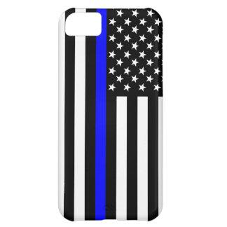 薄いブルーライン米国旗 iPhone5Cケース