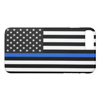 薄いブルーライン米国旗 iPhone 8 PLUS/7 PLUSケース