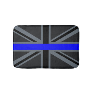 薄いブルーライン英国国旗のデザイン バスマット