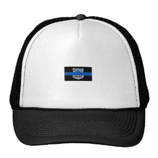 薄いブルーライン落ちたな役人のバッジのトラック運転手の帽子 帽子