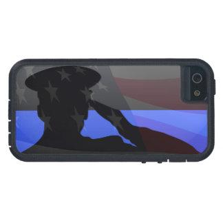 薄いブルーライン-国旗敬礼 iPhone SE/5/5s ケース