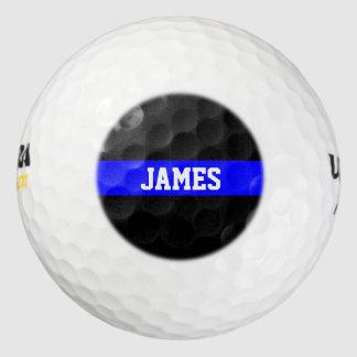 薄いブルーライン-米国旗の名前入りなカスタム ゴルフボール