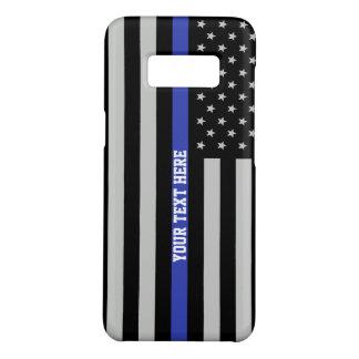 薄いブルーライン-米国旗の名前入りなカスタム Case-Mate SAMSUNG GALAXY S8ケース