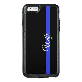 薄いブルーライン: 警察の妻のオッターボックスIphone 6/6s C オッターボックスiPhone 6/6sケース