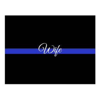 薄いブルーライン: 警察の妻 ポストカード