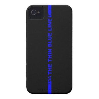 薄いブルーライン Case-Mate iPhone 4 ケース