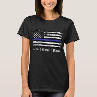 薄いブルーライン Tシャツ