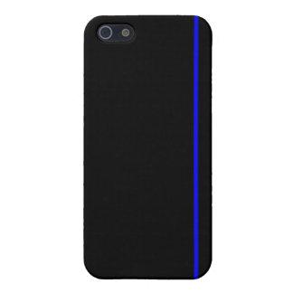 薄いブルーラインiPhoneの場合 iPhone 5 Cover