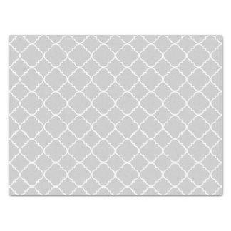 薄い灰色および白いQuatrefoil 薄葉紙