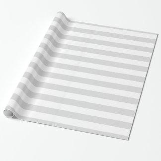 薄い灰色および白いXLストライプなパターン ラッピングペーパー