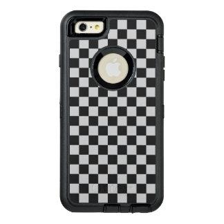 薄い灰色のチェッカーボード オッターボックスディフェンダーiPhoneケース