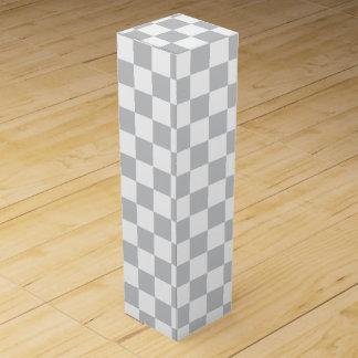 薄い灰色のチェッカーボード ワインギフトボックス