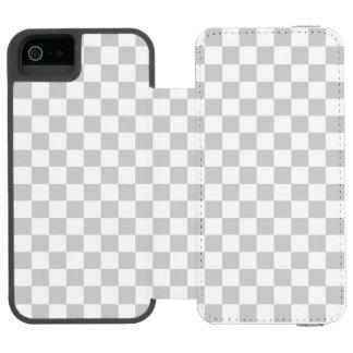 薄い灰色のチェッカーボード INCIPIO WATSON™ iPhone 5 ウォレット ケース