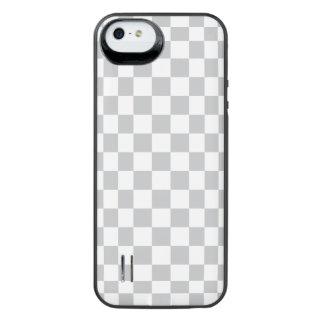 薄い灰色のチェッカーボード iPhone SE/5/5sバッテリーケース