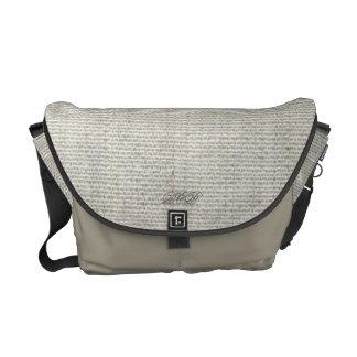 薄い灰色の人力車のメッセンジャーのキャンバスのバッグ メッセンジャーバッグ