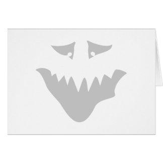 薄い灰色の恐い顔。 モンスター カード