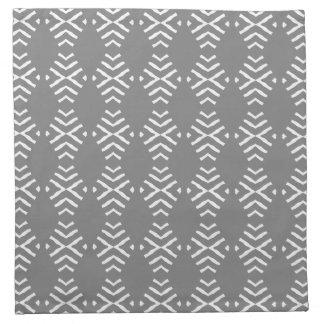 薄い灰色の抽象デザインとの4のナプキンセット ナプキンクロス