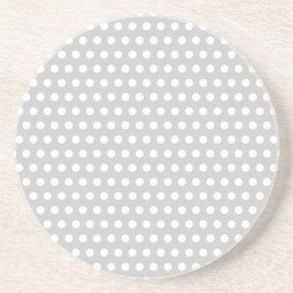 薄い灰色の白い点 コースター