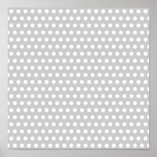 薄い灰色の白い点 ポスター