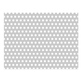 薄い灰色の白い点 ポストカード