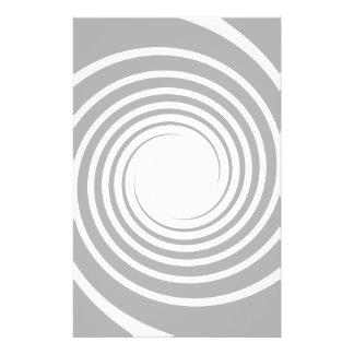 薄い灰色の白い螺線形。 チラシ