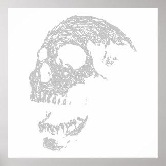薄い灰色の頭骨 ポスター
