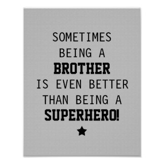 薄い灰色スーパーヒーローよりよい-兄弟 ポスター
