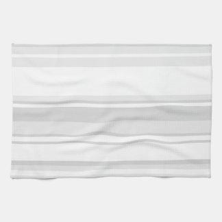 薄い灰色縞で飾ります キッチンタオル