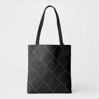 薄く白い長方形の幾何学的なパターン トートバッグ