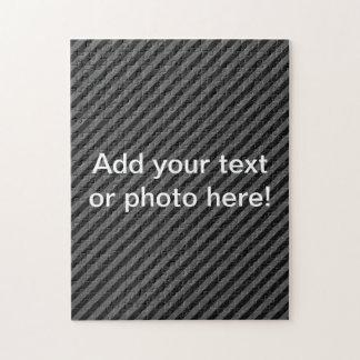 薄く黒いおよび灰色の対角線は縞で飾ります ジグソーパズル