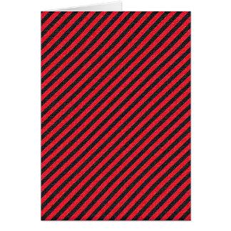 薄く黒くおよび赤い対角線は縞で飾ります カード