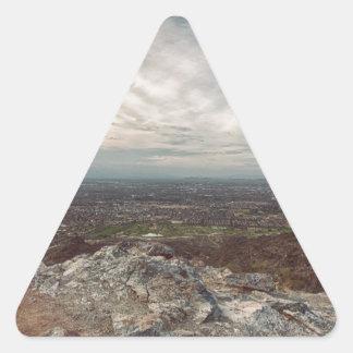 薄暗い 三角形シール